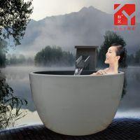 陶瓷洗浴大缸 景德镇定做陶瓷大缸 日式温泉极乐汤 浴缸