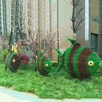 花海景区小动物植物绿雕造型制作 四川成都厂家定制
