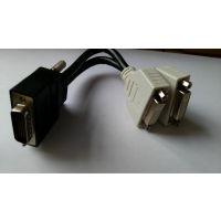 供应 DB60M to 2*DVI F 视频线 LFH60 to DVI-I Cable SCSI 线
