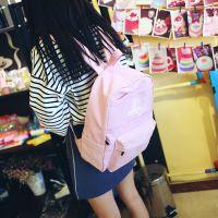新款韩版潮个性创意透明窗口双肩包 学生情侣复古书包背包帆布包