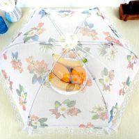 厂家批发餐桌罩蕾丝网纱折叠饭菜罩食物罩厨房防虫餐桌罩盖菜罩子