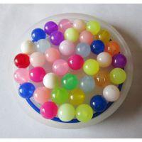 亚克力5mm果冻无孔珠,塑胶珠,塑料珠,透明彩色塑料珠