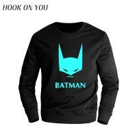 外贸爆款蝙蝠侠男士长袖圆领印花套头春秋保暖卫衣潮