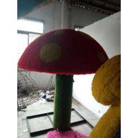 绿植真植物雕塑造型定制 可爱红色人物雕塑新年造型