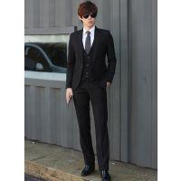 男士修身西服套装男青年韩版职业正装大学生毕业求职上班伴郎西装