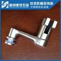 304不锈钢栏杆立柱爪件 圆角码 驳接爪单爪 立柱配件 扶手配件