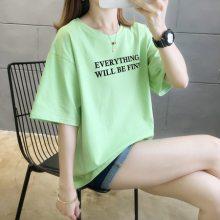 服装批发市场哪里有几元钱圆领印花T恤批发 夏季便宜跑量男女T恤批发