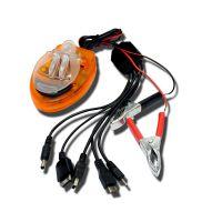 手机电池充电器生产  USB万能充 电瓶夹子充电器 一拖5,12-220V