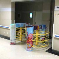 幼儿园人行通道闸儿童乐园出入口机半高旋转闸烤漆半高闸儿童闸机