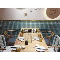主题餐厅餐桌椅火锅店复古餐桌工业风电磁炉火锅桌组合批发定制 地中海