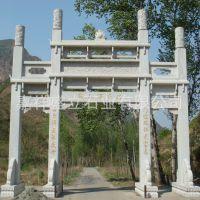 承接各种石材大理石牌坊 园林景观建筑三门牌楼 包安装