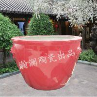 景德镇超级大号1.5米陶瓷鱼缸鱼盆 手绘青花瓷山水园林大缸花盆