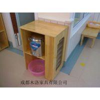 资阳/简阳幼儿园水杯柜/口杯柜定做 成都木洛打造实木绿色生活