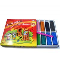 厂家直销 DIY益智玩具 儿童无毒橡皮泥模具套装粘土 12色盒装彩泥
