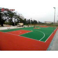 衡阳学校运动场地面 室外硅PU篮球场地 环保塑胶球场施工