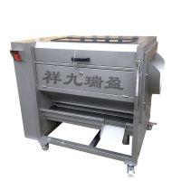 广州毛刷去皮机 芋头脱皮机生姜清洗机 土豆去皮机商用果蔬洗菜机