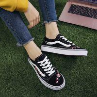 2017夏季韩版新款黑色帆布鞋女学生原宿ulzzang丑萌鞋女百搭布鞋