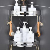 免打孔 304不锈钢卫生间置物架浴室用品三角形冲凉房洗手间洗浴架