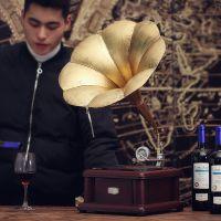 JSHCY复古怀旧留声机模型道具酒吧家居装饰品摆件