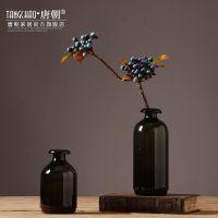北欧玻璃花瓶摆件现代简约美式乡村插花器客厅餐桌家居装饰品摆设