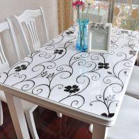 透明塑料正方形桌布防水防烫桌垫胶垫加厚茶几垫子家用PVC软玻璃