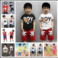 厂家直销春夏款童装短袖套装 韩版儿童卫衣套装 地摊货源童装批发