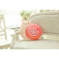 新品创意可爱蜗牛抱枕靠枕毛绒玩具办公室椅子靠垫坐垫公仔定制