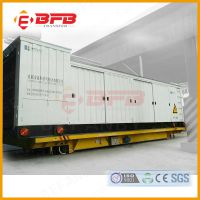 电动轨道搬运车 湖北厂家定制密度板搬运50吨地轨平板运输车价格