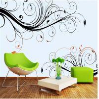 3D立体大型壁画墙布手绘欧式花纹电视背景墙壁画