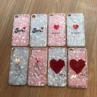smile爱心贝壳纹iPhoneX手机壳苹果全包硅胶7/8plus简约i6S网红女