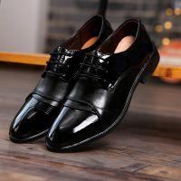 夏季商务正装皮鞋男士韩版潮流尖头黑色皮鞋男婚鞋休闲工作男皮鞋