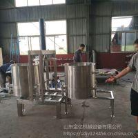 广西果酒发酵滤压榨机 葡萄酒蓝莓树莓液压榨汁机商用大型液压榨汁设备思路机械