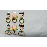 广州手机指甲 金属指环扣 金属卡通珐琅设计定制广告促销礼品