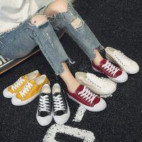 原宿帆布鞋女2018春季新款韩版百搭平底学生小白鞋秋季原宿板鞋子