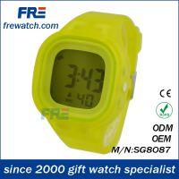 【厂家直销】时尚硅胶手表 学生礼品果冻表多功能硅胶电子表定制