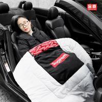 潮牌汽车抱枕被子两用靠垫多功能车载抱枕加厚车内午睡空调被