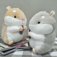胖仓鼠公仔抱瓜子仓鼠抱枕仿真仓鼠布娃娃批发毛绒玩具坐姿小松鼠
