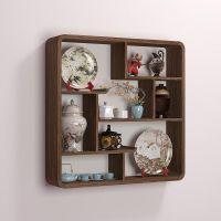 茶壶工艺品博古架时尚家庭壁挂式装饰品玄关柜茶具储物架书房省空