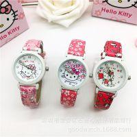 hello Kitty卡通儿童手表韩版KT猫果冻色女孩手表凯蒂猫学生手表