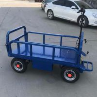 车间仓库运输载重平板车可升降电动平板车卡博恩平板电动小推车