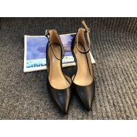艺立 女士优黑色雅高跟鞋-优雅系列