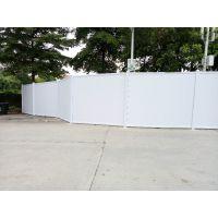 建筑工地的围挡用什么材料制作 深圳光明PVC围挡厂家