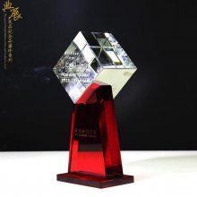 顺丰快递年终表彰奖杯 年度服务奖评选奖杯 中卫水晶奖牌批发