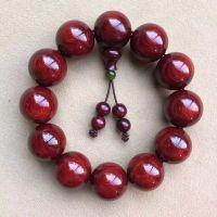 金星血檀媲美老料印度小叶紫檀佛珠手串2.0素珠佛珠手链一件代发