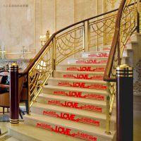 结婚庆用品楼梯装饰喜 婚房布置长条喜迷你镂空喜 家具家电喜字贴