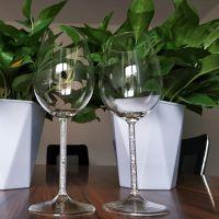 一对儿杯高脚杯高硼硅酒杯水钻杯柱经典款红酒杯