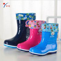 儿童雨鞋男女童防滑保暖小中大童宝宝雨靴可爱中简公主胶鞋水鞋套