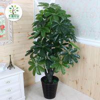 假发财树盆栽植物仿真滴水观音盆景大型客厅落地绿植树装饰塑料花