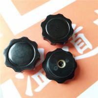 K674 八角梅花平面凹槽 电位器胶木旋钮波段开关帽子  6mm