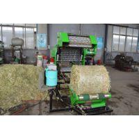 草秆麦秆饲料打包机 圆柱型草捆饲料包膜机 饲养厂打捆机